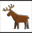 canadian moose elk isolated canada vector image vector image