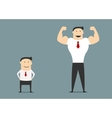 Cartoon small and big businessmen vector image vector image