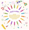Circle of pencils on a white background vector image