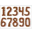 coffee bean numbers vector image vector image