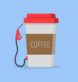 coffee filling station vector image