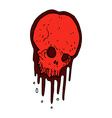 comic cartoon scary skull vector image vector image