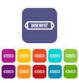 discount label icons set vector image vector image