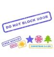 Do Not Block Door Rubber Stamp vector image vector image