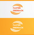faster logo design vector image vector image