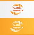 faster logo design vector image
