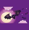 flying bats trick or treat happy halloween vector image