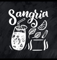 freehand sketch style drawing of sangria cocktail vector image