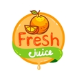 fresh juice emblem 3 vector image