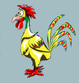 funny cartoon rooster vector image