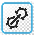 Gear Integration Icon In a Frame vector image vector image