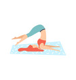 girl in plow pose young woman practicing yoga vector image vector image
