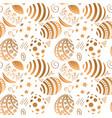 golden easter egg seamless pattern vector image