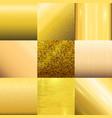 Golden texture pattern template vector image