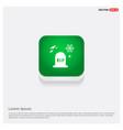 halloween grave icon green web button vector image