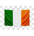 hanging flag ireland ireland national flag vector image vector image