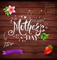 happy mothers day card design from a child vector image