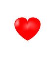 heart 3d isolated red sign on white background vector image vector image