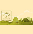 hiking and camping texture style vector image vector image