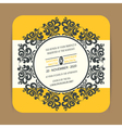 invitation card with round vintage element vector image vector image