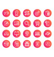 marketing line icons strategy feedback vector image