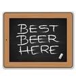 Menu - Beers on the blackboard vector image vector image