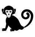 monkey icon black color fill flat style simple vector image vector image