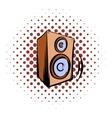 Music speaker icomics icon vector image vector image