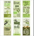olive oil retro green background collection vector image vector image