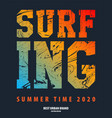 on the theme of surf rider and vector image vector image