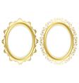 oval decorative frames - set vector image
