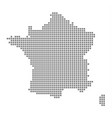 pixel map of france dotted map of france isolated vector image