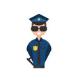 police officer character policeman in blue vector image