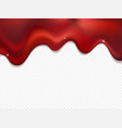red foil drip isolated on transparent background vector image