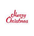 red text merry christmas vector image