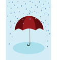 Red umbrella and rain vector image vector image