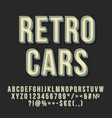 retro cars 3d lettering vector image