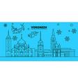 russia voronezh winter holidays skyline merry vector image vector image