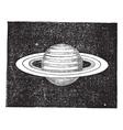 Saturn vintage engraving vector image vector image