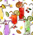 seamless pattern vivid cocktails vector image