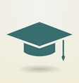 Simple graduation cap icon vector image vector image