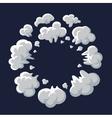 Smoke dust explosion cartoon frame vector image vector image
