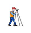 Surveyor Geodetic Engineer Theodolite Isolated vector image vector image