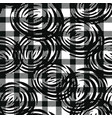 tartan seamless pattern with roses vector image