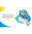 team success landing page website template vector image