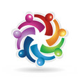 teamwork social people icon vector image vector image