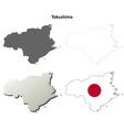 Tokushima blank outline map set vector image vector image