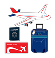 Travel items vector image vector image