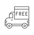 truck and free alphabet on board line icon vector image vector image