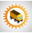 under construction gear dump truck vector image
